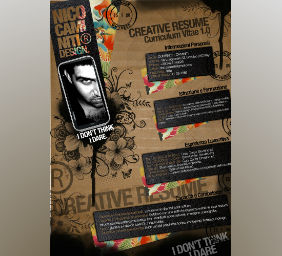 Creative Resume -1.0 - 2010 by Domenico Caminiti