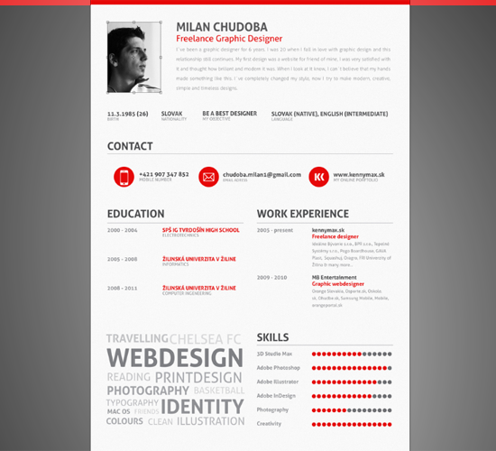 My CV by Milan Chudoba