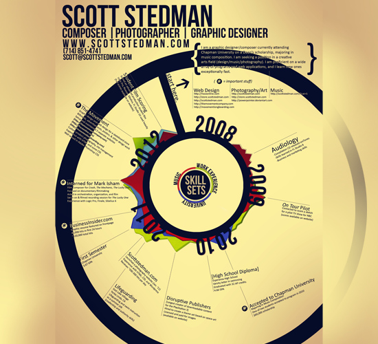 Resume Infographic by Scott Stedman