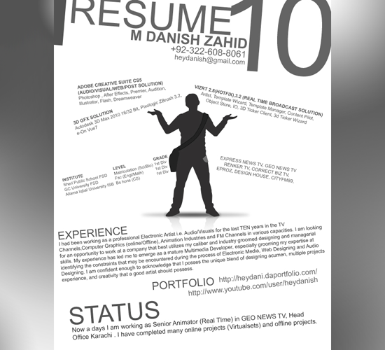 Resume by M Danish Zahid