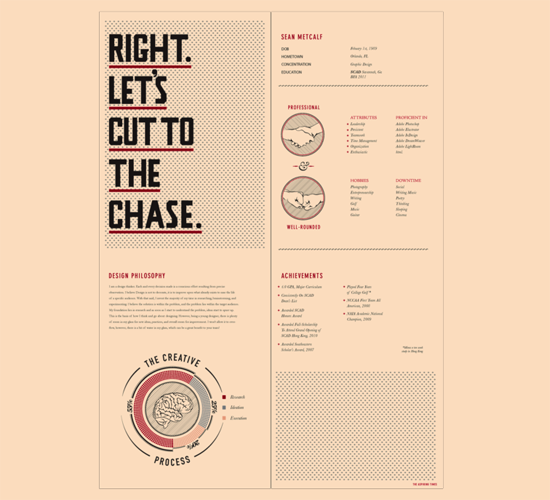 40 Impressive Resume/CV Designs – Yvelle Design Eye
