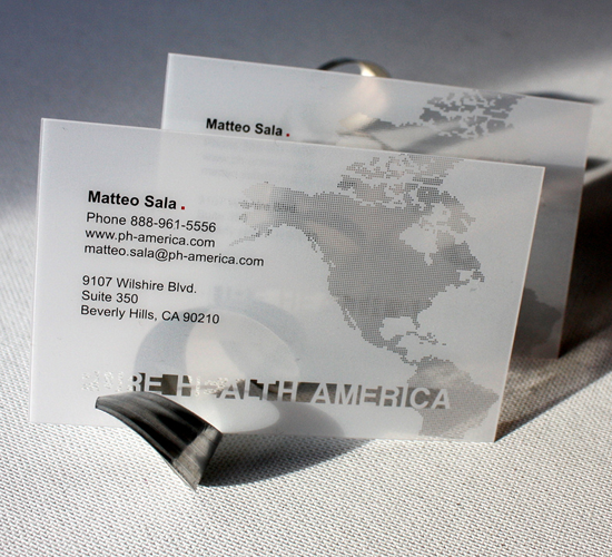 Clear plastic business cards vistaprint choice image for Clear plastic business cards vistaprint