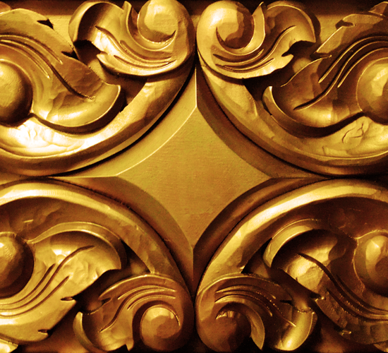Golden Carved Wood
