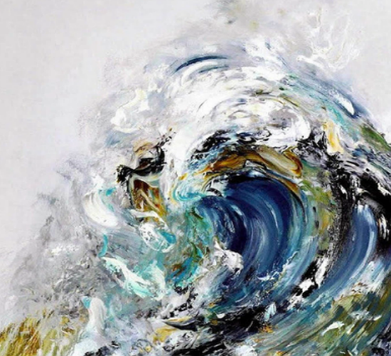 Summer Wave Tunnel by Maggi Hambling