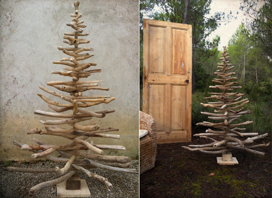 30 creative holiday decorations yvelle design eye for How to make a hanging driftwood christmas tree