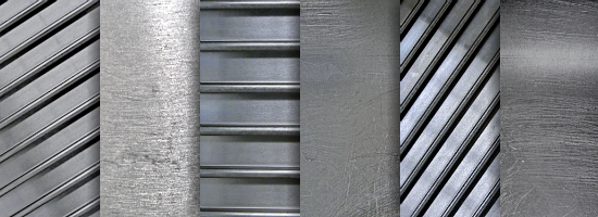 Stainless Steel Title Header